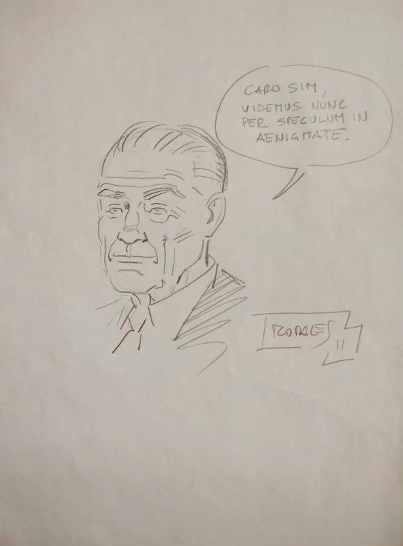 Borges disegnato da Morales